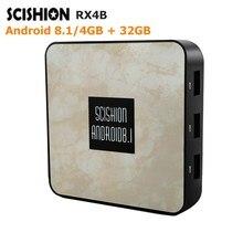 SCISHION RX4B TV Box Rockchip 3328 4GB RAM+32GB ROM Media Player 2.4G WiFi 100M