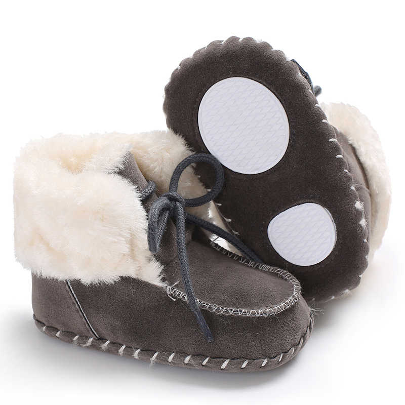 Cute Infant Baby Girls Snow Boots Newborn Baby Boy Booties Soft Sole Slipper Indoor Toddler First Walkers Winter Casual Shoes
