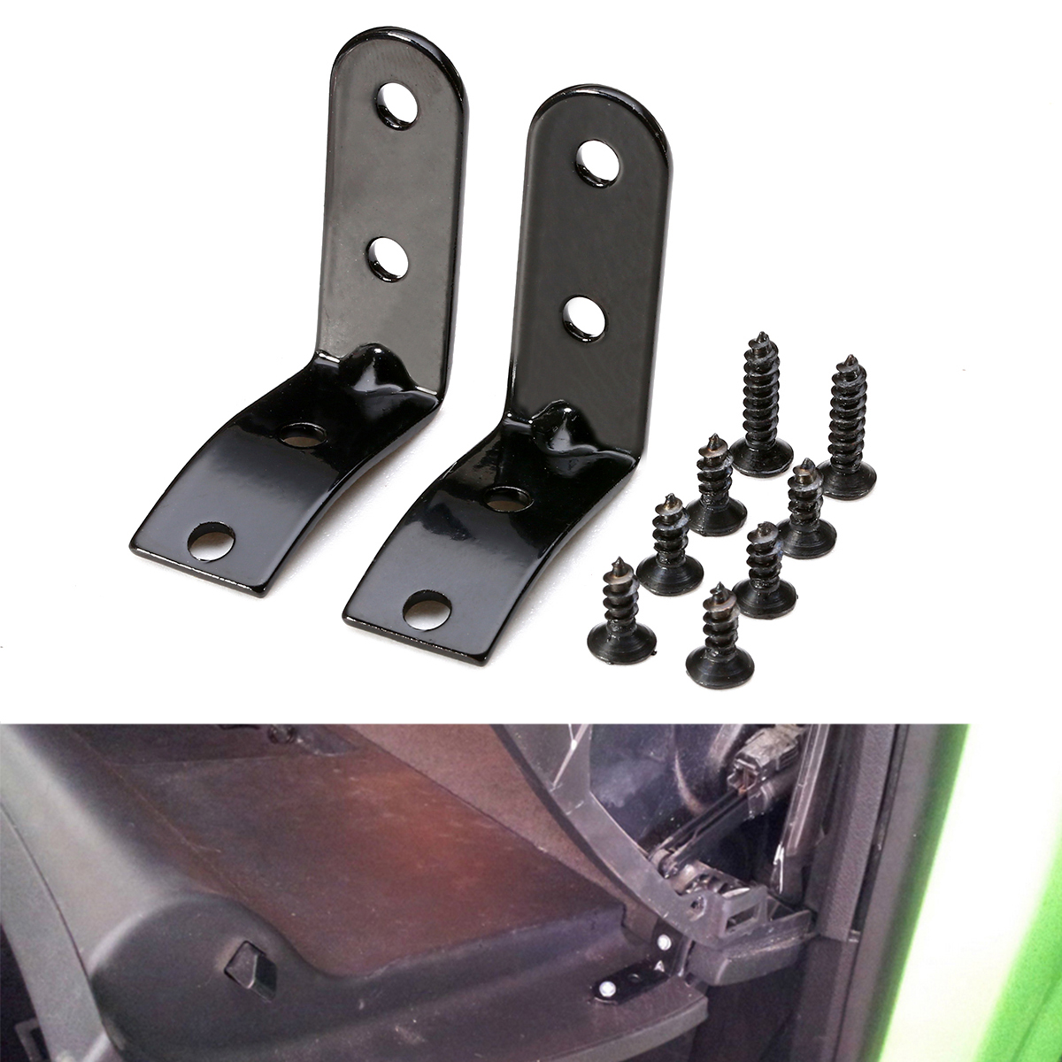 New Arrival 1set Hinge Brackets + 8x Screws High Quality Glove Box Lid Hinge Snapped Repair Kit For <font><b>Audi</b></font> <font><b>A4</b></font> B6 B7 8E 2001-2008 image