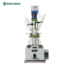 YHChem 2L Laboratory Single layer Vacuum Glass Reactor/ Chemical Reactor/ Continous Stirred Reactor