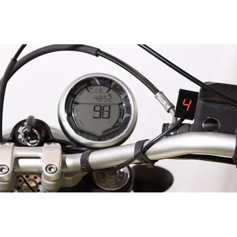 1pc Motorcycle Speed Gear Digital Display Indicator LED Level ECU Plug  Mount For Honda Series Red/Green/Blue Optional