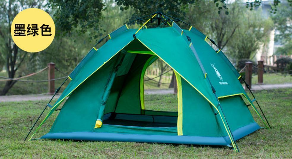 3-4 personne 200*180*130 cm tente de plage ultra-légère tente pliante Pop Up automatique tente ouverte famille touristique poisson Camping Anti-UV entièrement