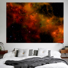 Fiery Red Star Sky Tapestry Space Wonder Nebula  Galaxy Astronomy Beauty Scenery Cloth Blanket  Décoration