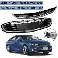 2 шт./компл. верхний + нижний передний капот бампера Решетка сборки для Chevrolet Malibu XL 2016 2017 Гонки Грили Авто запасные части