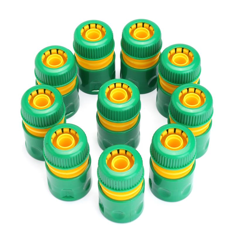 10Pcs Hose Garden Tap Water Hose Pipe Connector Quick Connect Adapter Fitting Watering 1/2 inch