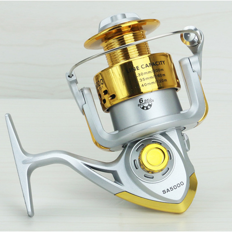 Image 2 - Yumoshi SA1000   7000 6BB Fishing Reel Fly Fishing Reel Carp Feeder Spinning Fishing Reels Carretilhas de pesca Moulinet molinet-in Fishing Reels from Sports & Entertainment