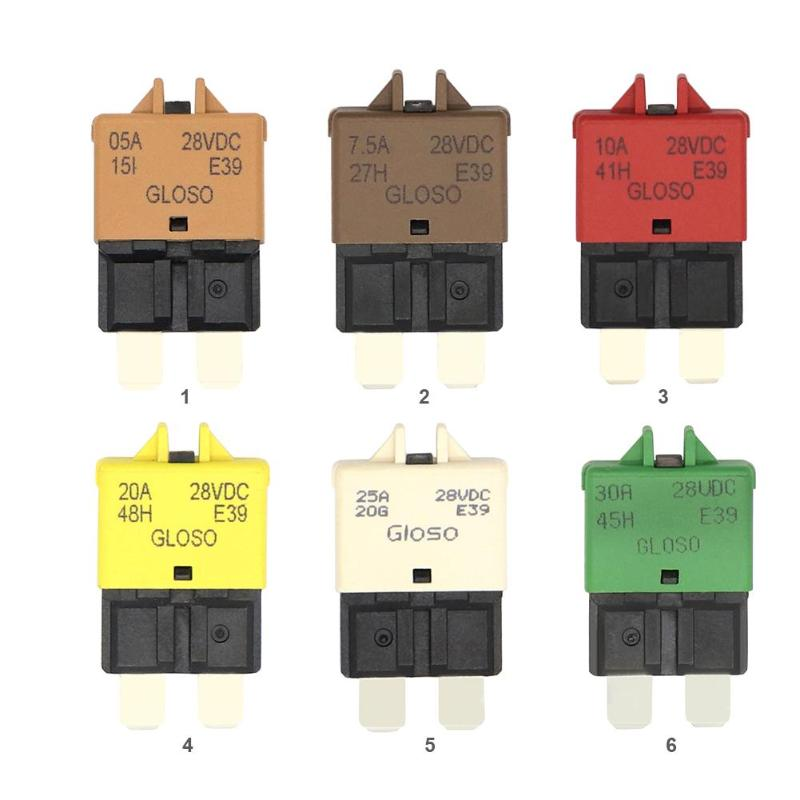 <font><b>DC</b></font> 28V Manual Reset ATC Circuit Breaker Blade Fuse for Car Motorcycle Truck Boat Marine Auto Accessories <font><b>5A</b></font> 7.<font><b>5A</b></font> 10A 20A 25A image