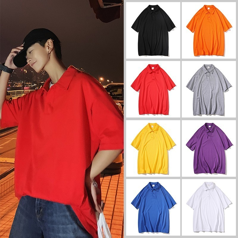 2019 summer brand cotton short-sleeved polo shirt men fashion youth breathable top male Hot Sale