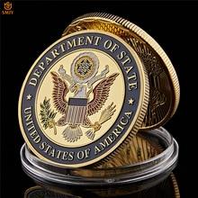 США, МИД США, США, Париж, Франция, башня, сувенир, вызов, золото, коллекционная копия монет
