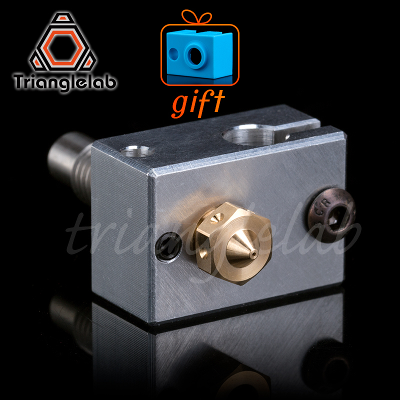 Trianglelab High Quality 3D Printer Heater Block For Sensor Cartridges + Nozzle + Heat Break For 3D Printer For E3D HOTEND I3 UM