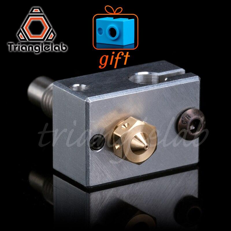Trianglelab bloco de aquecedor impressora 3d alta qualidade para cartuchos sensor + bocal calor pausa para impressora 3d para e3d hotend i3 um