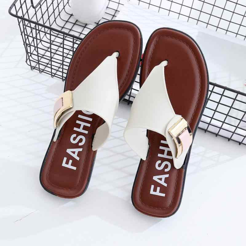 a4f8005513e046 Women Shoes Flip flop Summer Sandals Outdoor Indoor Slippers Casual Shoes  Retro Beach Slippers  1019