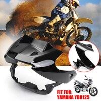 New Headlight Fairing & Windscreen Panel Wind Shield Black for Yamaha YBR 125 PC Plastic Motorcycle Wind Deflectors+Lamp Cover