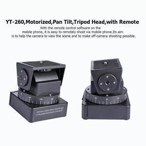 Image 4 - YT 260 kamera motorlu Pan Tilt Tripod başkanı ile uzaktan kumanda Gopro Hero Yi Sony QX1L QX10 QX30 QX100
