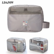 LDAJMW  Portable Travel  Makeup Bag Cosmeticstorage Bag Make Up Organizer Toiletry Storage Rushed Floral Nylon Zipper все цены