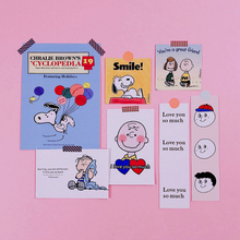 Ins Popular Stickers Cute Cartoon Snoopy Sticker Suitcase Diary Book Hand-decorated Office Learning Decoration Supplies
