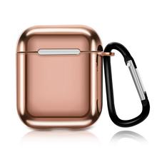 シリコーンソフト保護ケースカラフルなメッキバッグスポーツ防水防塵ポータブルミニイヤホン Apple Airpods
