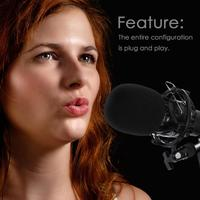 BM800 Professional Condenser Microphone 3.5mm Wired Audio Studio Vocal Recording Music KTV Karaoke Live Mic For PC Lapto