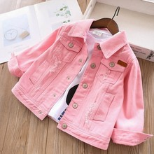 2020 spring girls denim jackets coats baby jeans outfit whit