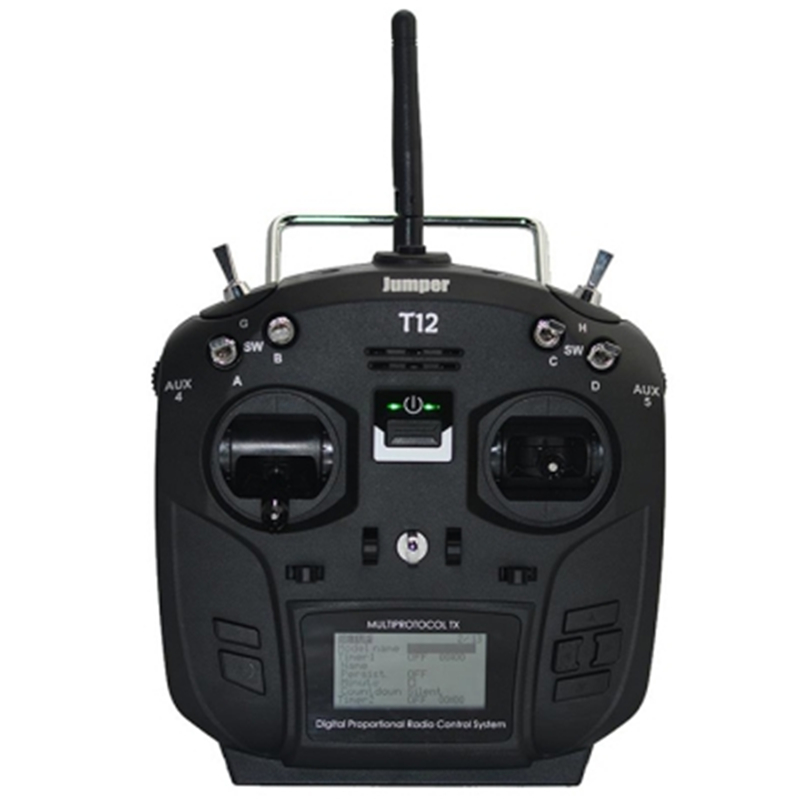 Jumper T12 Plus Multi - Protocol Radio Transmitter 16 Channel W / JP4 - In - 1 RF Module Hall Sensor Gimbal Black RC Toys PartsJumper T12 Plus Multi - Protocol Radio Transmitter 16 Channel W / JP4 - In - 1 RF Module Hall Sensor Gimbal Black RC Toys Parts