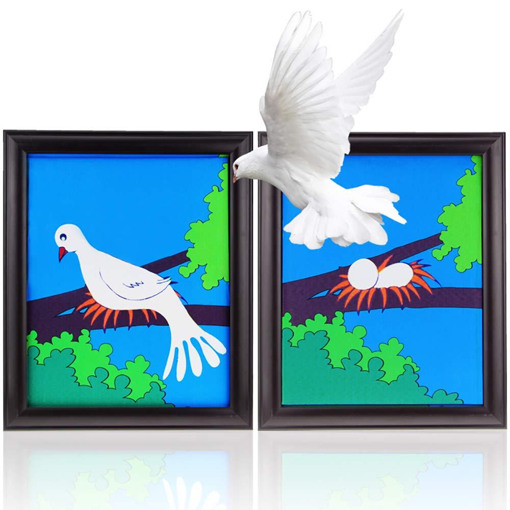 Cadre de colombe tours de magie colombe apparaissant de la scène de l'image Illusions magie Gimmick accessoires de magicien (Version une colombe)