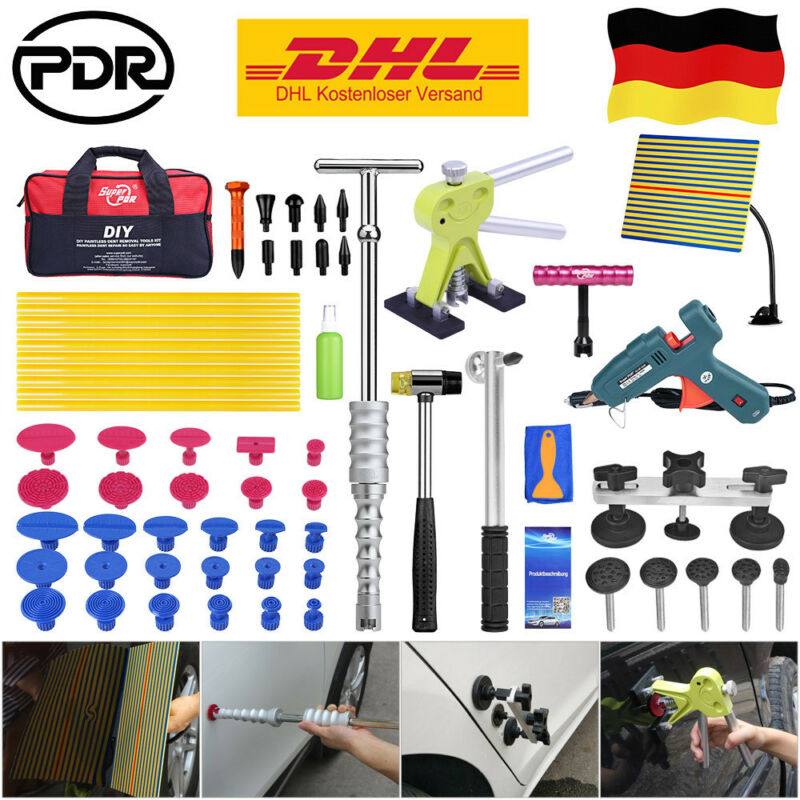 Super PDR tools paintless dent repair tools Dent Repair Kit Car Dent Puller with Glue Puller Tabs Removal Kits for Vehicle Auto
