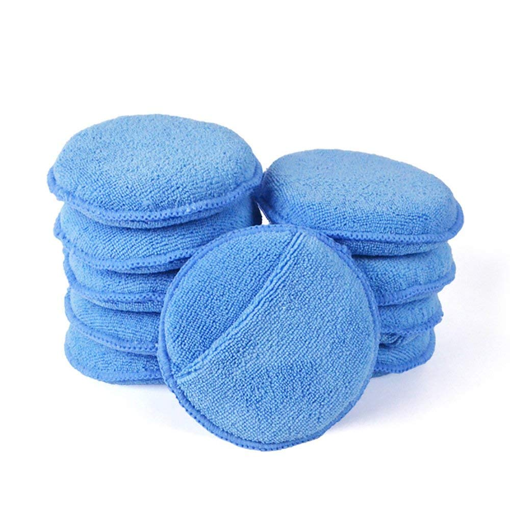 10 Pack Car multi-function waxing microfiber sponge with Pocket Ultra-soft Microfiber Wax Applicator Pad Polishing Sponge