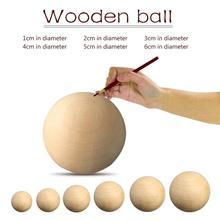 Твердый деревянный Dia для детей возрастом 1-6 см круглый шар ручной DIY аксессуары дерево Цвет большая расписная Пальма клубок естественный деревянный шар создания
