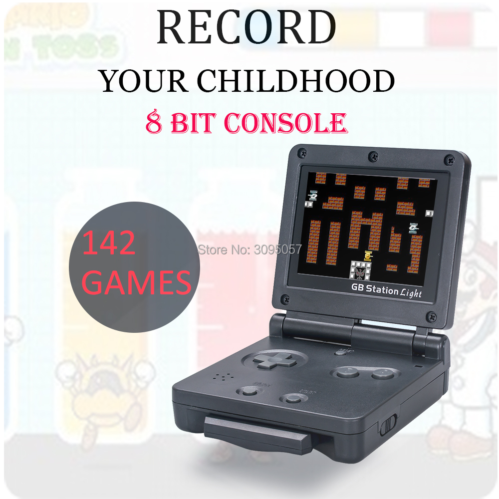 WOLSEN 8 Bit Mini Portable Game Station 2.8 inch Handheld Player 142 Games classic video game for GB station Light