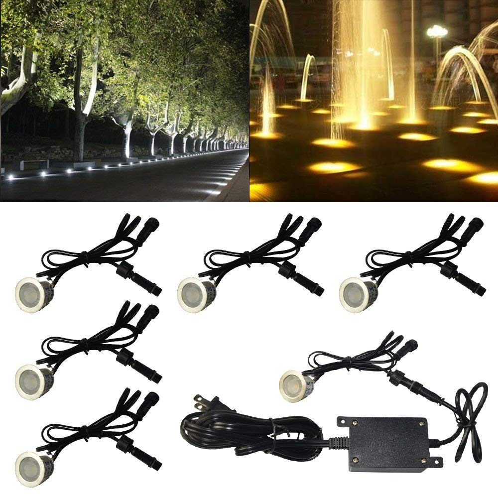 10pcs 7w 500lm Led Deck Lights Kit 12v Waterproof Recessed Ground Light For Garden Patio Yard Outdoor Landscape Lights Fixtures Finely Processed