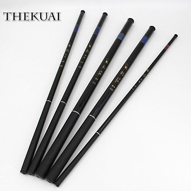 THEKUAI 2.7/3.6/4.5/5.4/6.3/7.2 Meters Stream Hand Pole Casting Telescopic Fishing Rods Fish Tackle Fishing Pole Stream Hand Rod