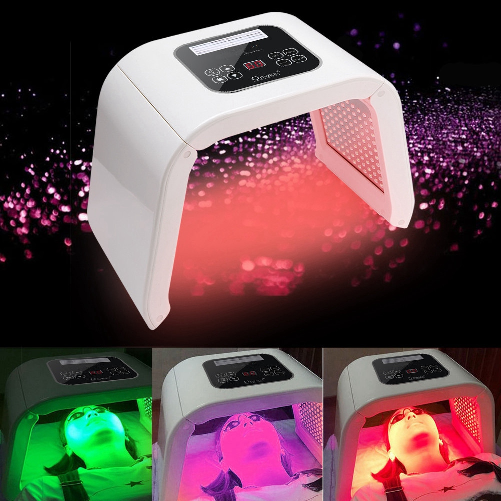 Echte 4 Farbe LED photon lichttherapie maschine PDT behandlung haut Regeneration Straffen Entferner Anti falten Spa Hautpflege werkzeug-in Gesichtspflege-Utensilien aus Haar & Kosmetik bei  Gruppe 1