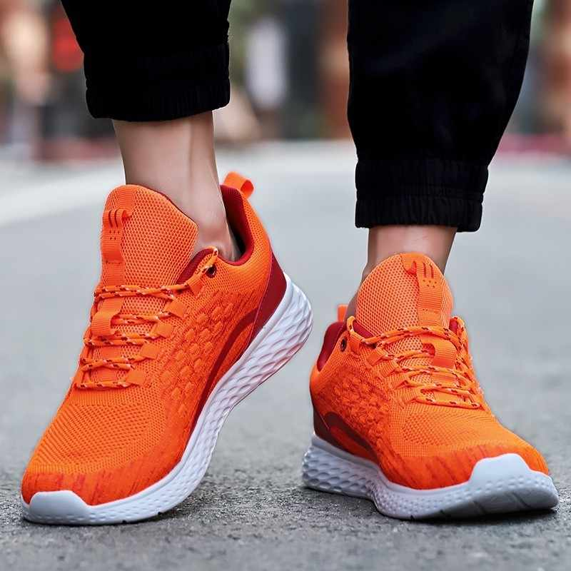 d51361b8212d4 ... 2019 Newest Outdoor running shoes for man Breathable Athletic Shoes  Trend Male Adult Comfortable lace- ...