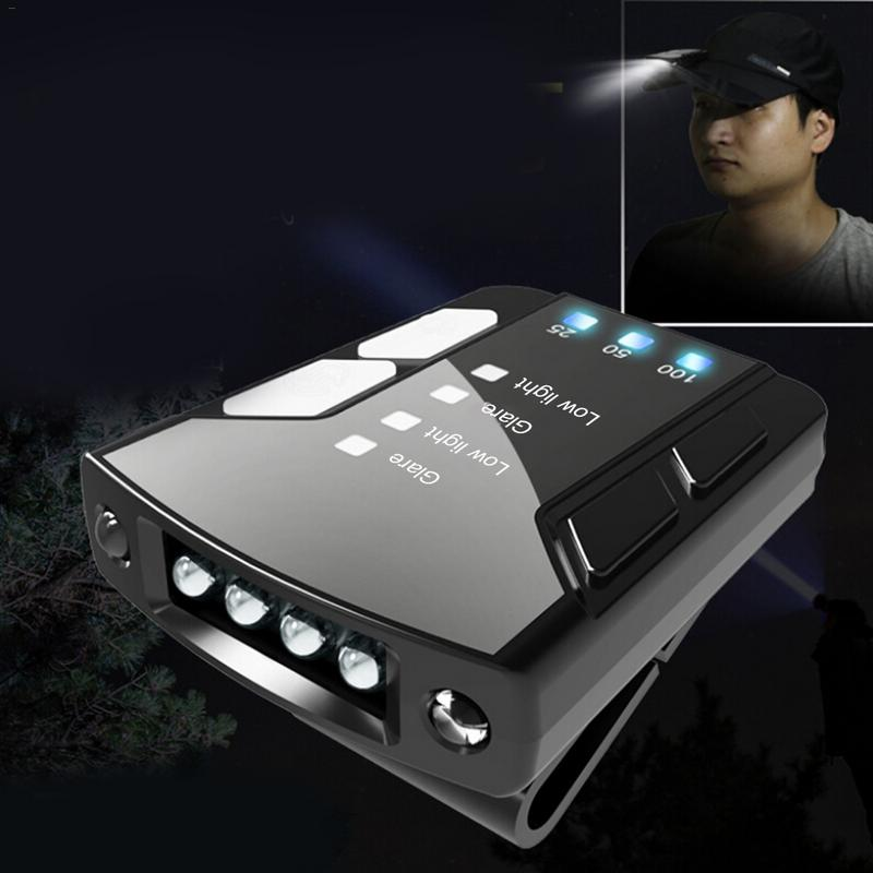 Headlamp USB Cap Light LED Rechargeable High Light Body Motion Sensor Adjustable Lamp Clip Light Waterproof 800mAh Battery