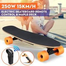 Listrik Skateboard Roda Empat Longboard Skate Board Maple Deck Nirkabel  Remote Kontrol Roda Skateboard untuk Anak-anak Dewasa f449860199