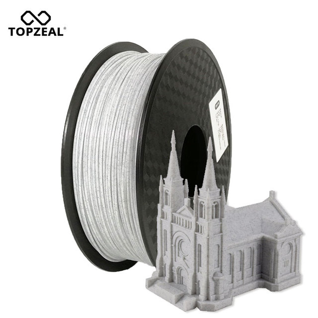 TOPZEAL Newly Developed Marble Color 1.75mm PLA 3D Printer Filament Accuracy +/- 0.02mm 1KG Spool for 3D Printer