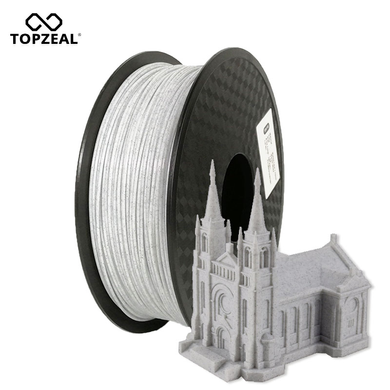 TOPZEAL PLA Filament Marble Color 1.75mm PLA 3D Printing Filament Accuracy +/- 0.02mm 1KG Spool For 3D Printer