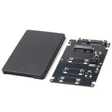Mini Pcie mSATA SSD до 2,5 дюймов SATA3 адаптер карта с Чехол 7 мм Толщина Черный
