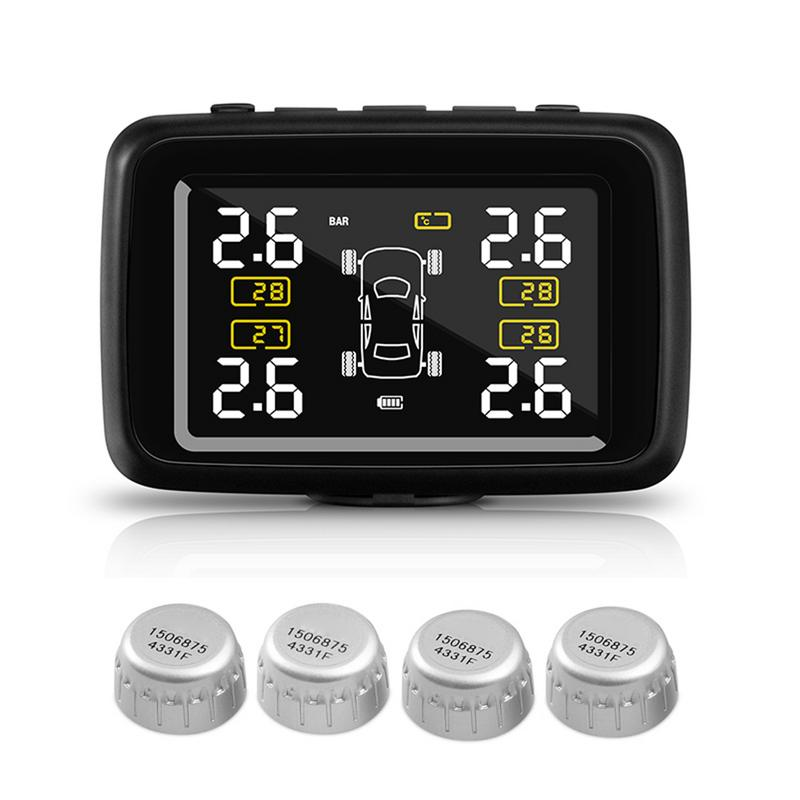 CAREUD U901 Auto Wireless TPMS Tire Pressure Monitoring System mit 4 Externe Sensoren LCD Display Auto Sicherheit Alarm Systeme