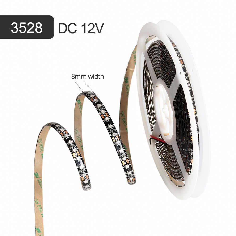 12 В УФ светодиодная лента smd 3528 Черный PCB гибкий светодиодный свет 120 светодиодный s/m ультрафиолетовая лучевая лента лампа 395-405nm светодиодный Диодная лента