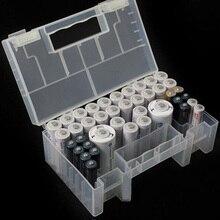 Hartplastik Anti Auswirkungen Tragen Beständig Lagerung Box Batterie Fall Praktische Organizer Klar Innere Fach Halter AA AAA