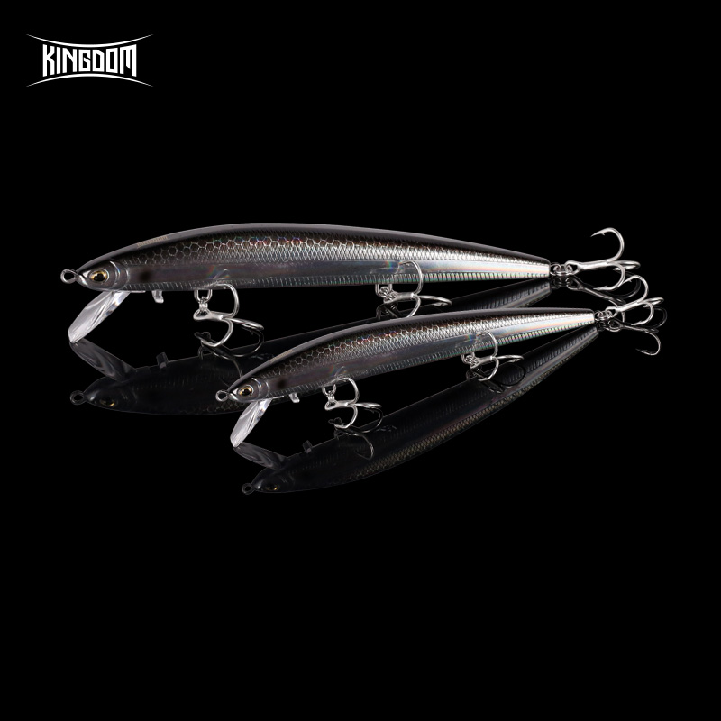 Kingdom New JERKBAIT SHANKS Sea Fishing Lures Minnow uniqed Lip High Quality 115mm 12.5g Good Action wobblers Floating Hard Bait