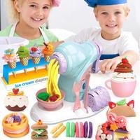 DIY children toy children ice cream pasta machine clay mud handmade toys Play House Toy