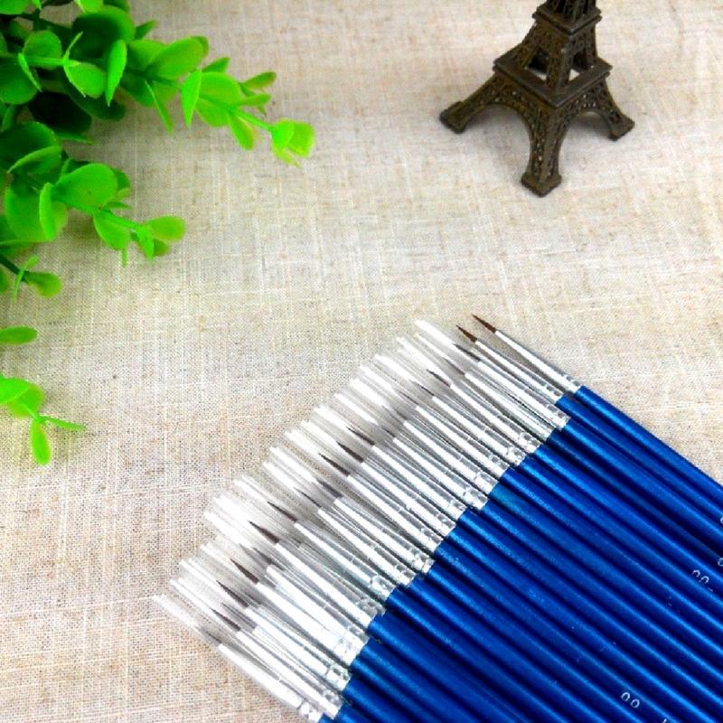 10Pcs/Set Fine Hand-painted Thin Hook Line Pen Drawing Art Pens Paint Brush #4