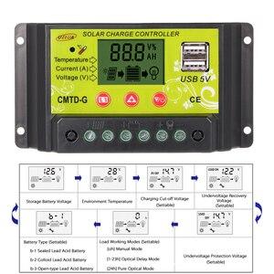 Image 3 - 20A 12 V/24 24V PWM ソーラー充電コントローラ Lcd レギュレータソーラーパネルバッテリーランプ過負荷保護