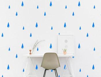 Raindrop Wall Sticker Rain Drops Vinyl Home Decor For Kids Room Nursery Bedroom Wall Decals Removable DIY Mural Interior