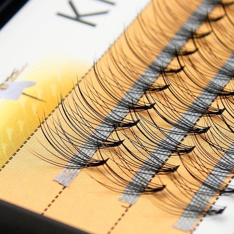 Kimcci Fashion 60pcs Professional Makeup Individual Cluster Eye Lashes Grafting Faux False Eyelashes Extension Natural Cilio Top