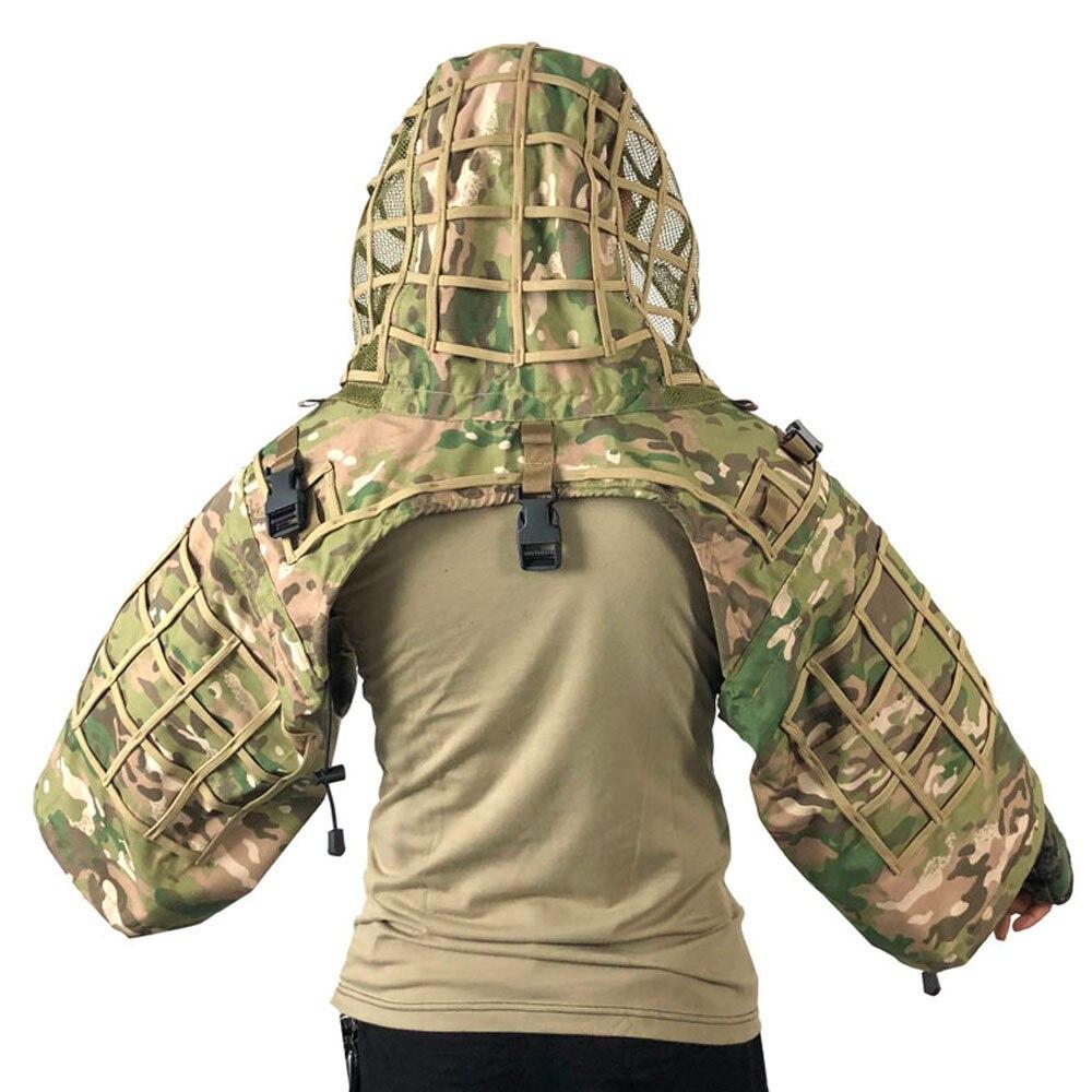 Camouflage tactique chaud CS armée Fans champ Sniper Ghillie vêtements en plein air chasse cachette Plaid tissu résistant à l'usure respirant veste