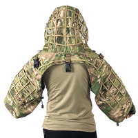 Hot Tactical Camouflage CS Army Fans Field Sniper Ghillie Clothes Outdoor Hunting Hiding Plaid Cloth Wearproof Breathable Jacket