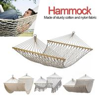 2019 New Hot Sale Outdoor Cotton Rope Net Hammock Ultralight Camping Hammock For Bedroom Balcony Courtyard Beach Etc